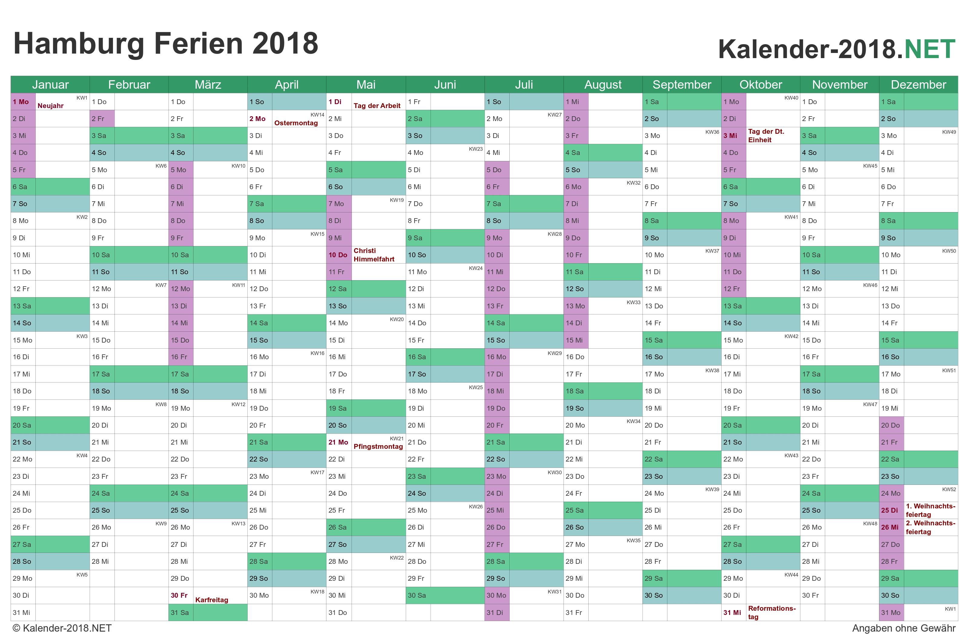 2018 schulferien