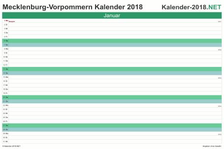 Meck-Pomm Monatskalender 2018 Vorschau