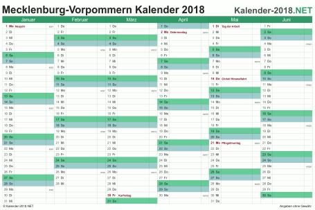Meck-Pomm Halbjahreskalender 2018 Vorschau