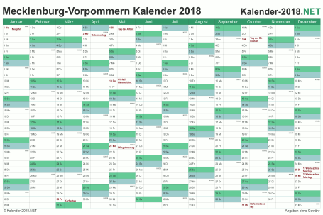 Meck-Pomm Kalender 2018 Vorschau