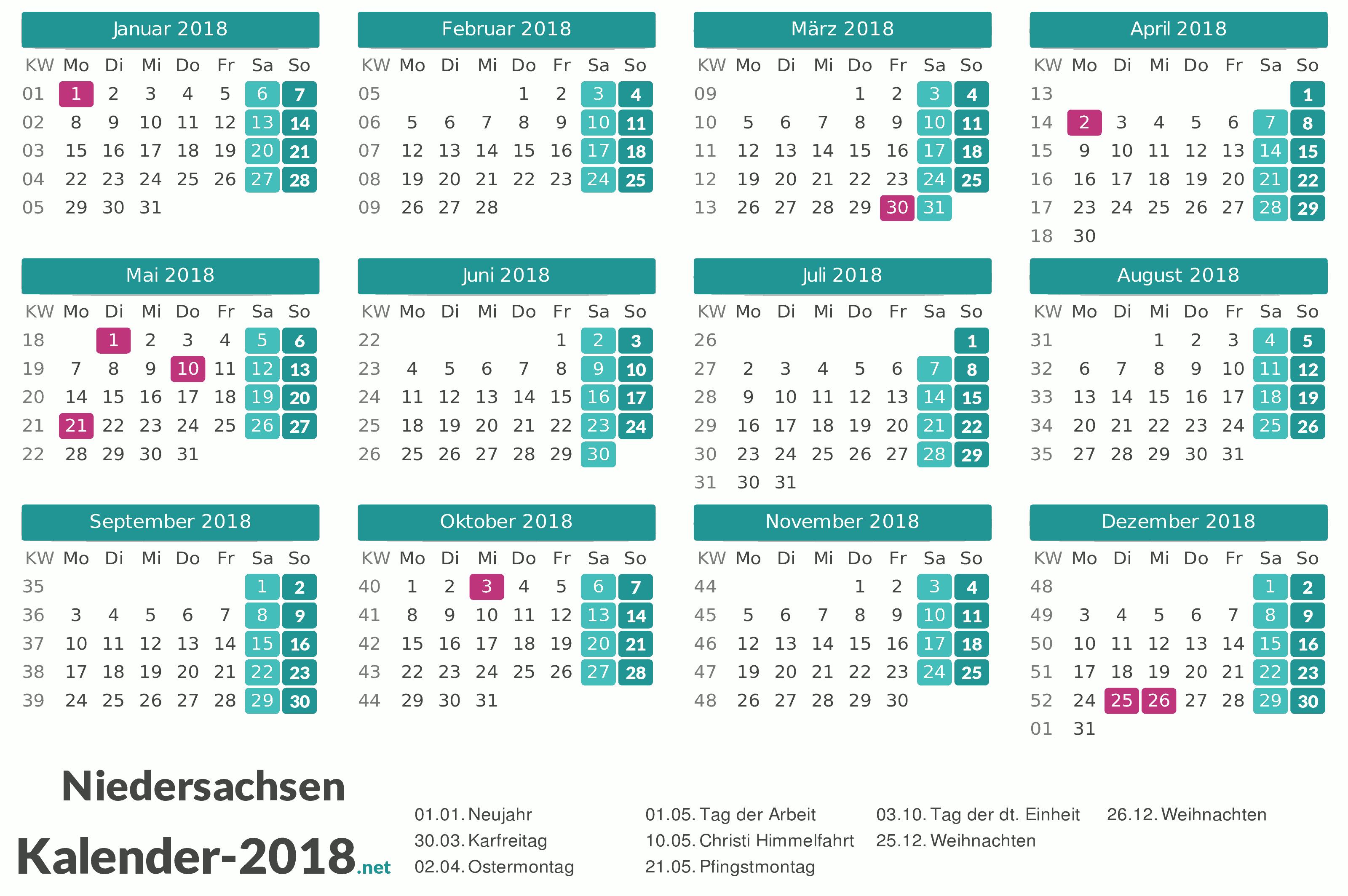 1 November Feiertag Niedersachsen